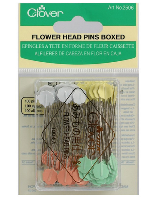 Clover Flower Head Pins Boxed