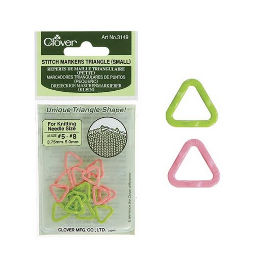 Clover Stitch Markers Triangle Small