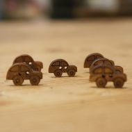 Wooden Car Buttons