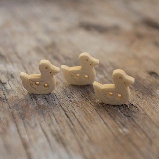 Wooden Duck Buttons