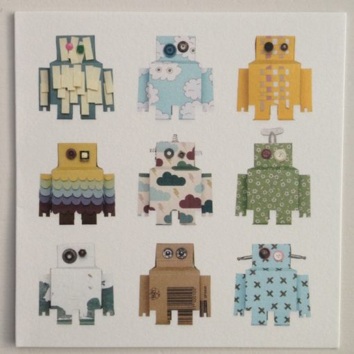 Studio Ditte Card Robots Blue