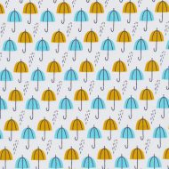 Cloud 9 Spring Walk Umbrella Rain Gold
