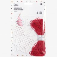 Rico Design Christmas Embroidery Board with Thread.