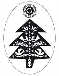 Rico Christmas stamp oval Christmas dream