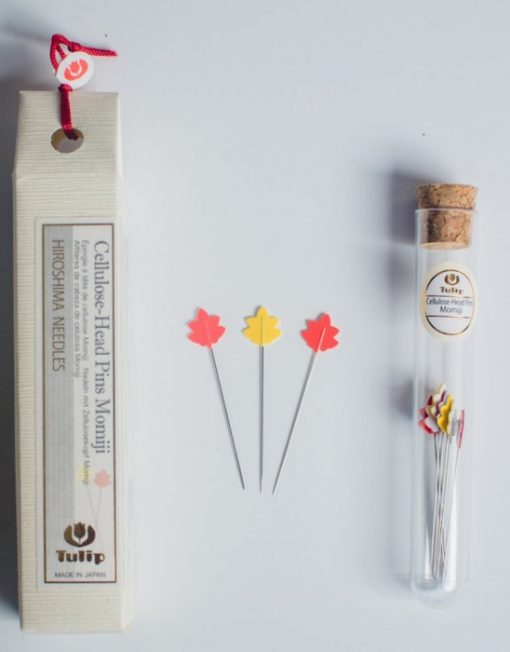 Tulip Hiroshima Cellulose Head Pins Momiji