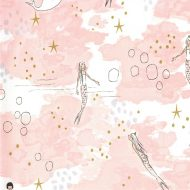 Michael Miller Magic! - Mermaid with Cotton Metallic, Pink