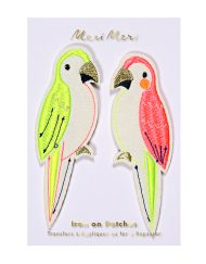 Meri Meri Iron On Patch Parrots