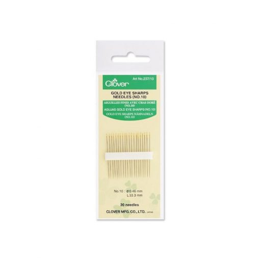 Clover gold eye sharps needles