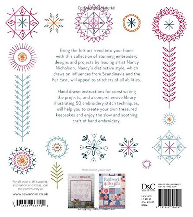 Modern folk embroidery contemporary projects for