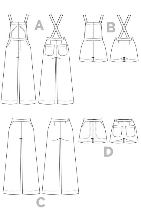 Closet case Jenny_Overalls_Pattern_trousers back