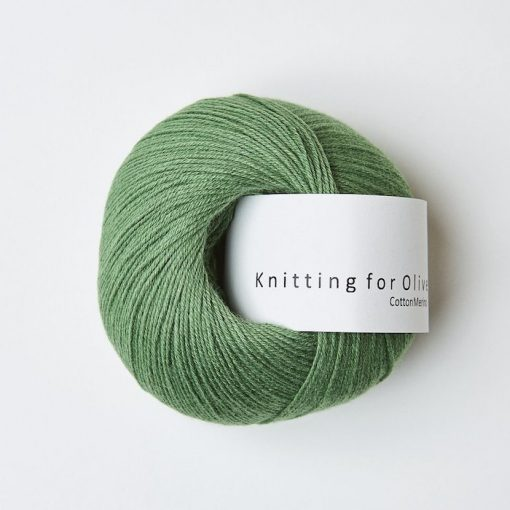 Knitting for olive CottonMerino klovergron yarn