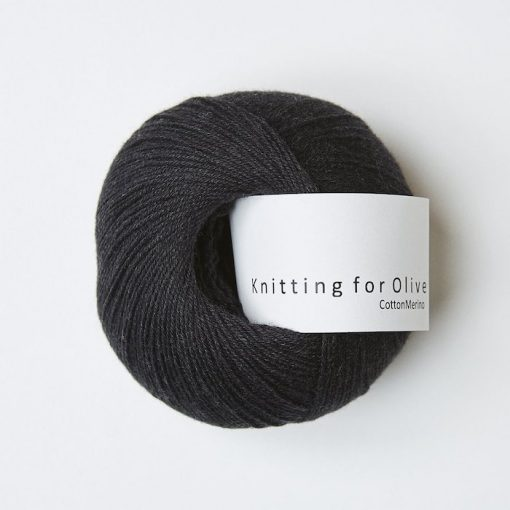 Knitting for olive CottonMerino skifergra yarn