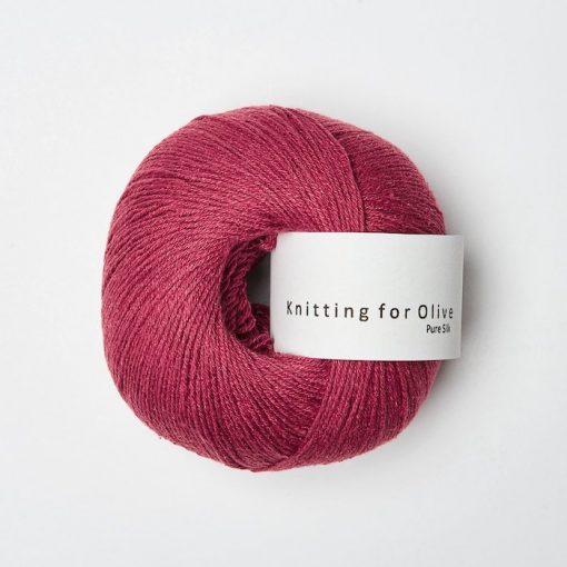Knitting for olive silk kirsebaerkey yarn