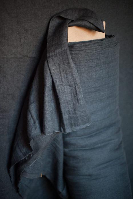Merchant & Mills - Woolsey Scuttle Black EU Linen:Wool