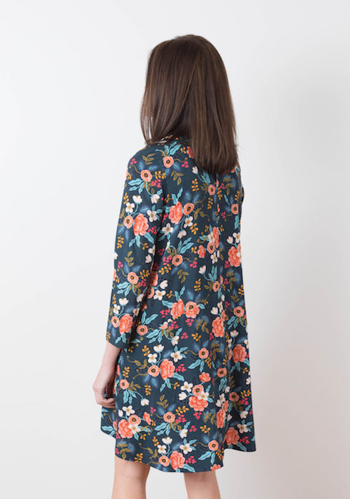 grainline Studio farrow dress back