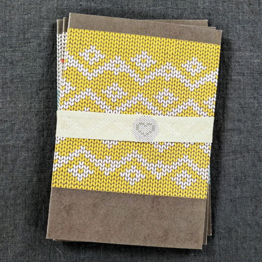 An caitlin Beag Knitters journal yellow