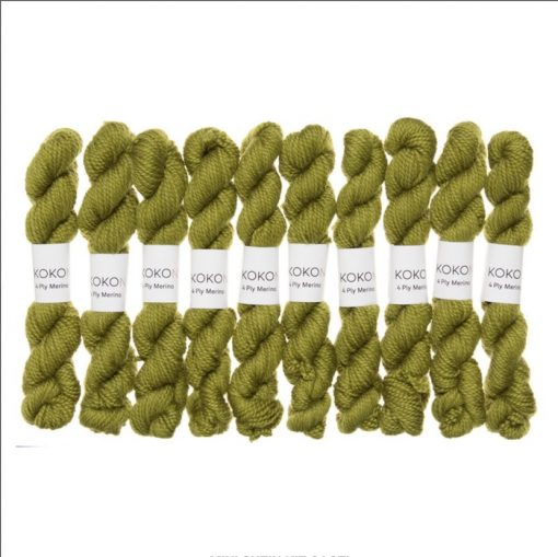 Kokon Fingering mini skeins cacti