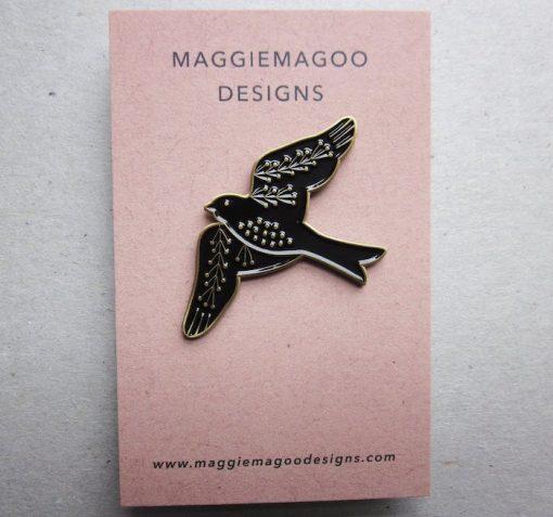 Maggiemagoodesigns Pin Brooches Bird