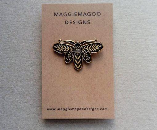 Maggiemagoodesigns Pin Brooches Moths