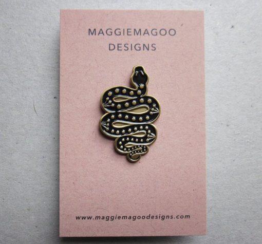 Maggiemagoodesigns Pin Brooches Snake
