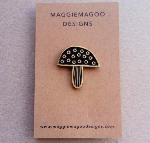 Maggiemagoodesigns Pin Brooches Toadstool