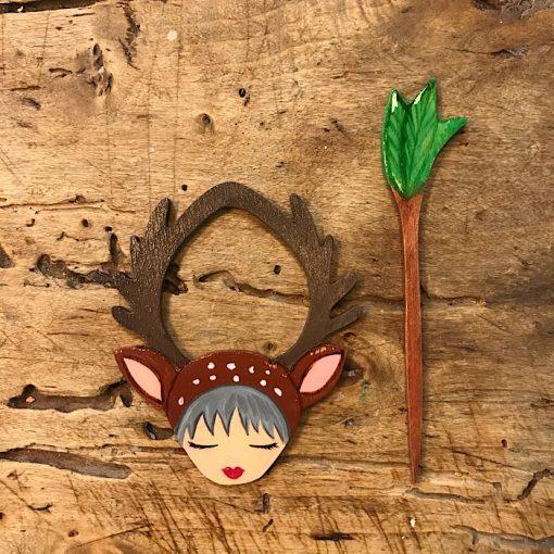 Zoownatas shawl pins deer