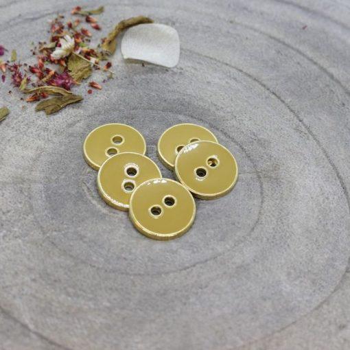 Atelier Brunette Joy Buttons Mustard