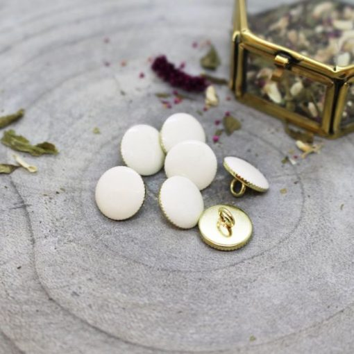 Atelier Bruntte gem-buttons-off-white