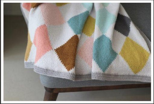 CaMaRose Harlekin-Blanket Knitting Pattern