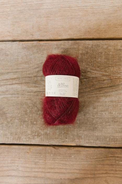 Biches & Bûches silk mohair dark red