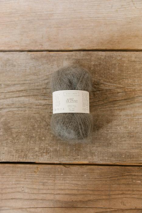 Biches & Bûches silk mohair grey brown