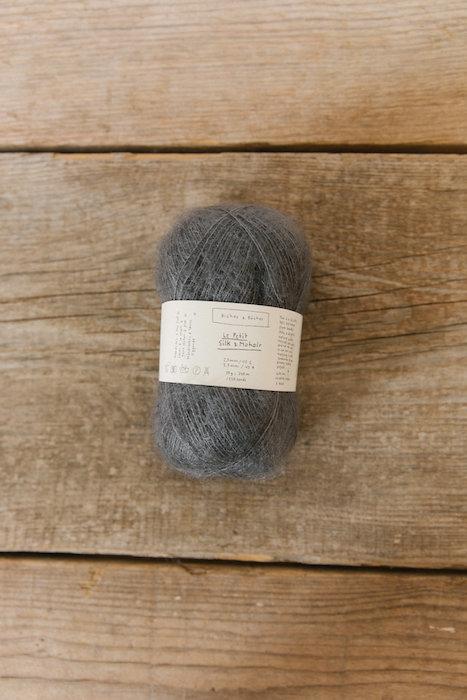 Biches & Bûches silk mohair medium grey