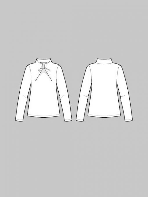 The Assembly Line Elastic Tie Sweater drawing