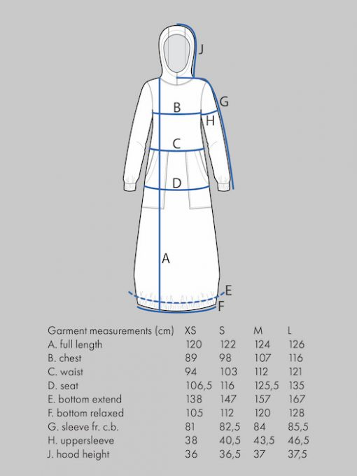 The Assembly Line Hoodie Dress measure