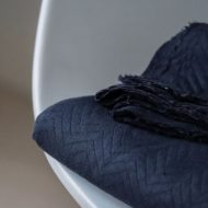 Mind the Maker quilted chevron dark navy