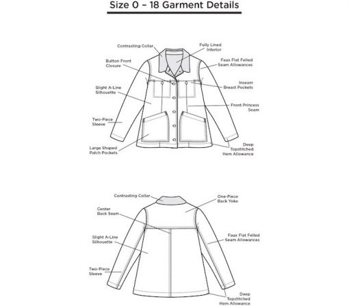 The Thayer Jacket Size 0-18 requirements