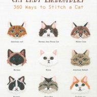 Front Cover of the book Cat Lady Embroidery 380 ways to Stitch a Cat - Appelmints
