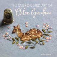 The front cover of The Embroidered Art of Chloe Giordano