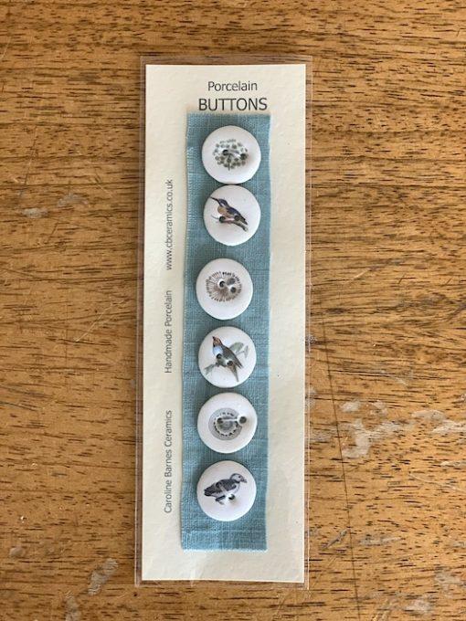 Carol Barnes ceramic Buttons teal 22cm