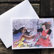 Salina Jane Art Greetings Card - the last skein
